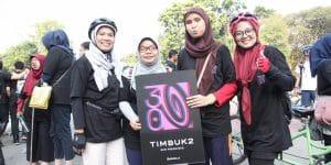 Ciptakan Kegembiraan dan Keseruan, Timbuk2 Indonesia Mengajak Sahabat Tunanetra Bersepeda Bersama