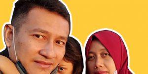 Fina bersama suami dan anaknya
