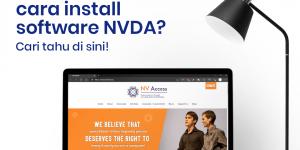 layar komputer yang menampilkan website resmi NVDA